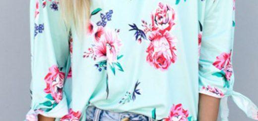 bluză cu flori Yoins