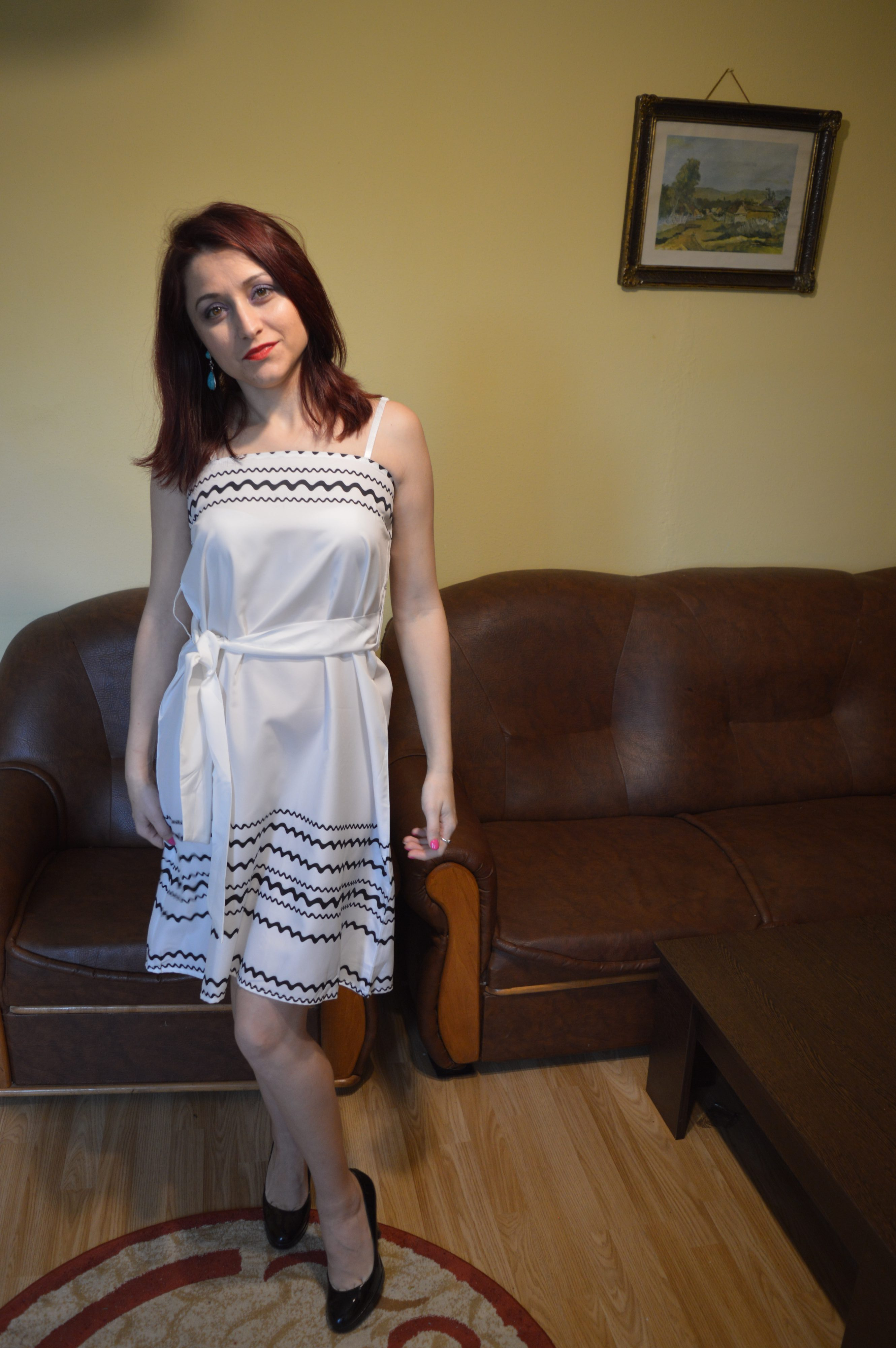 Rochie albă Zaful