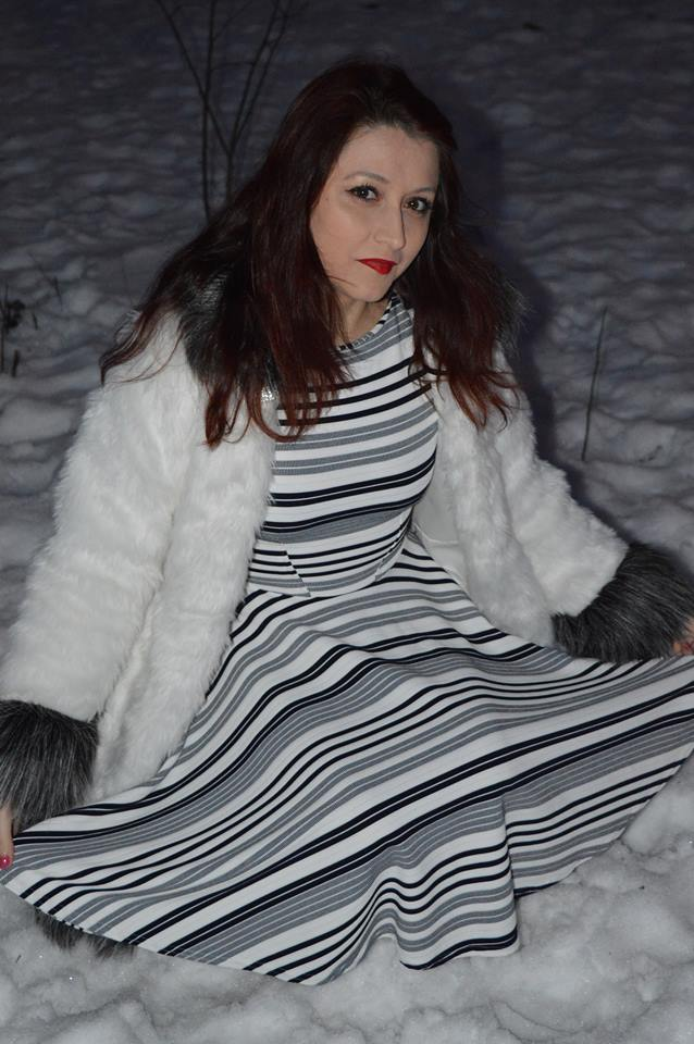 rochie în dungi Rohboutique