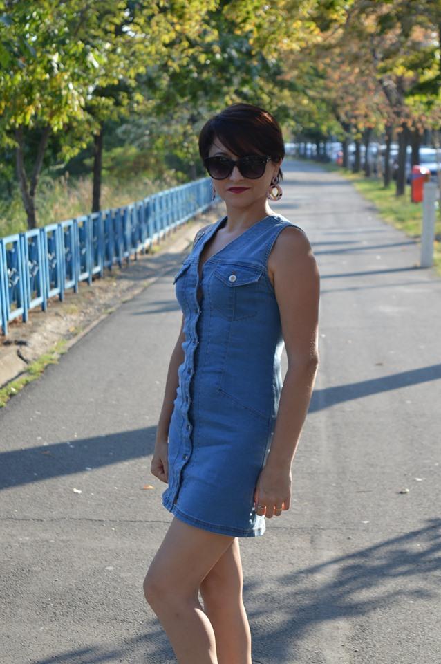 rochie din denim Femme Luxe