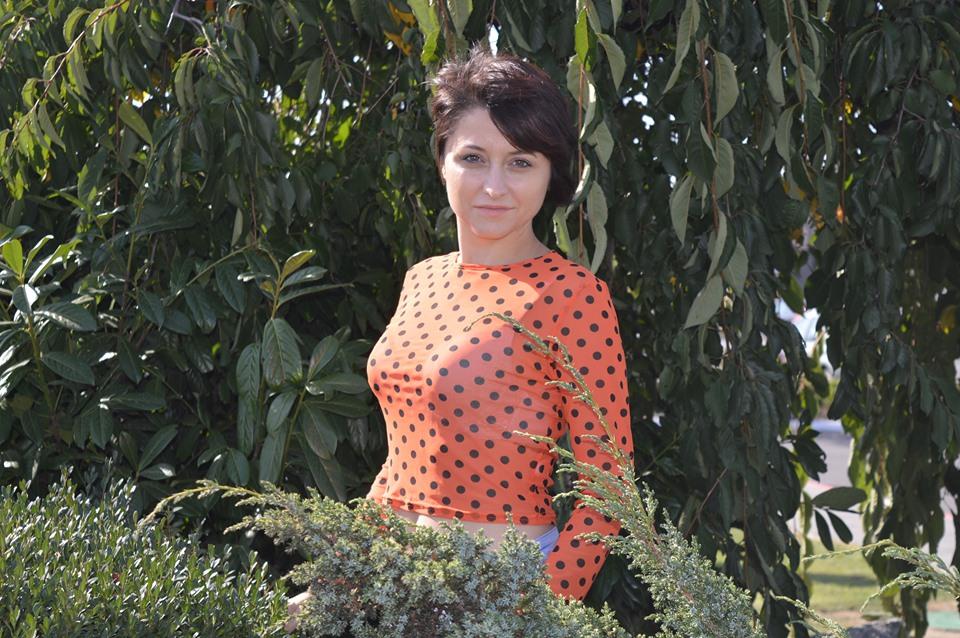 bluză cu buline Femme Luxe