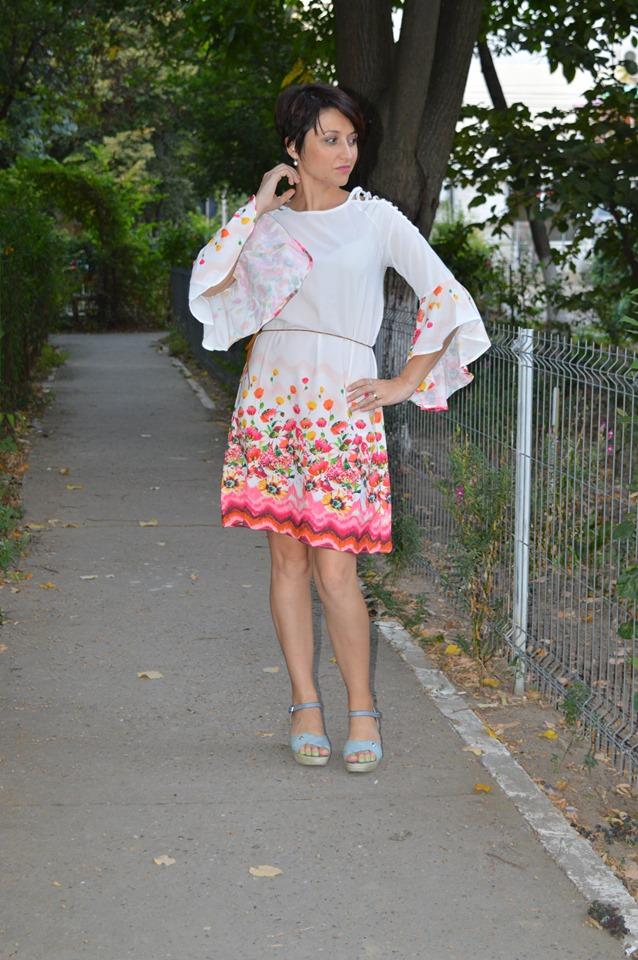 rochie florală Dresslily