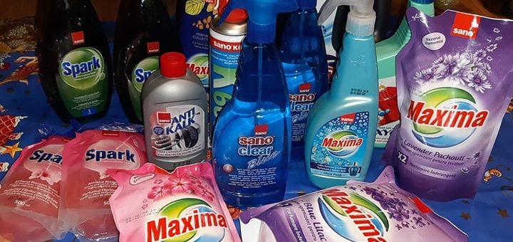 produsele de curățenie Sano