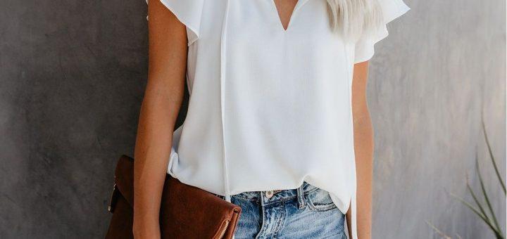 bluze de damă albe