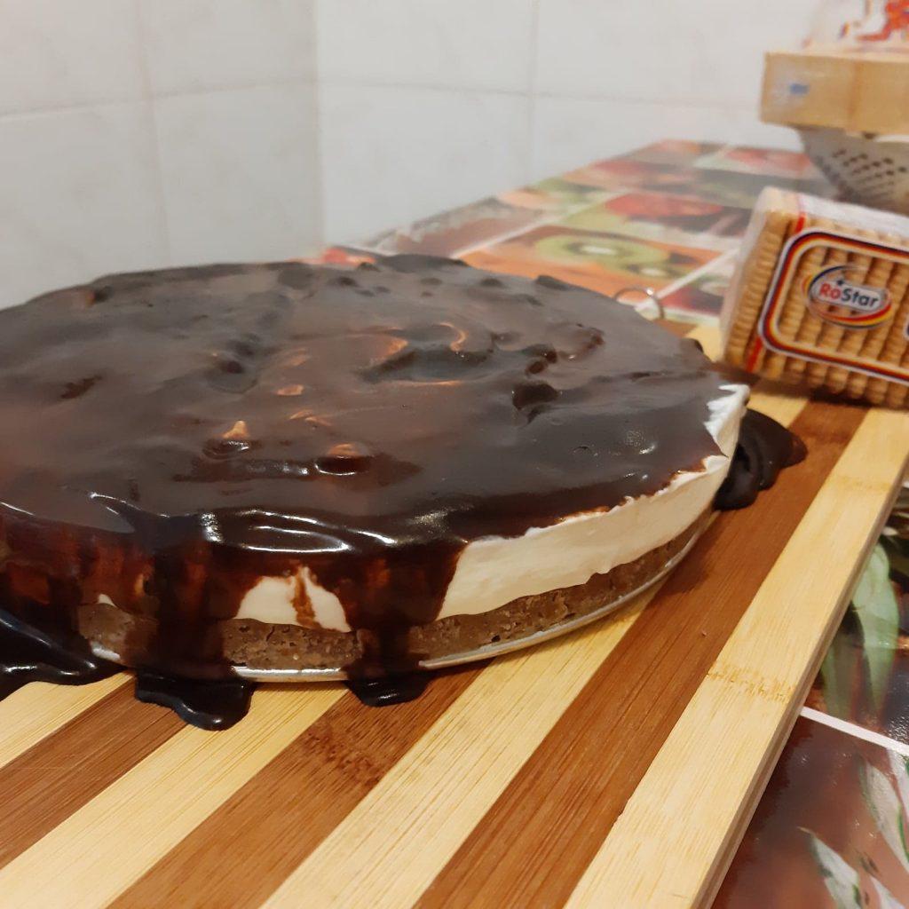 prăjituri rapide cu biscuiți - cheesecake