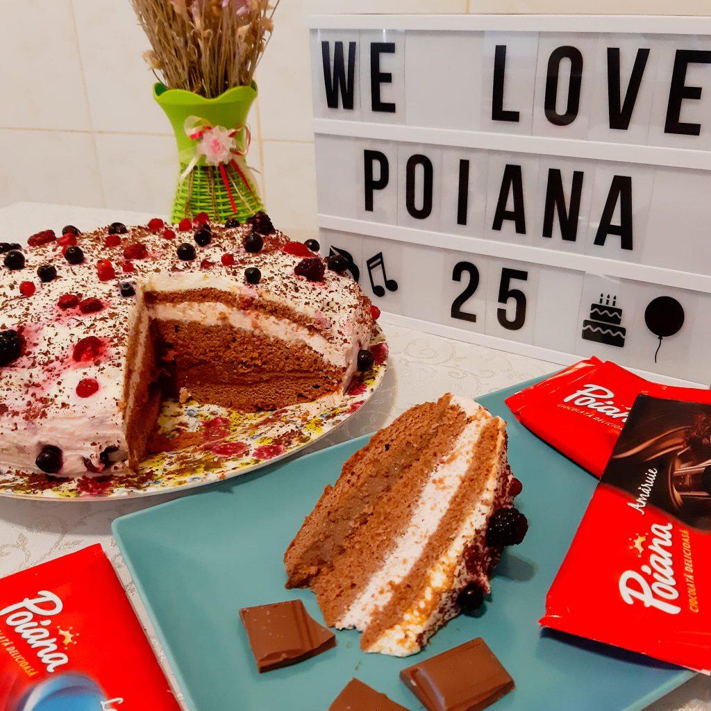 Tort cu blat de ciocolată Poiana