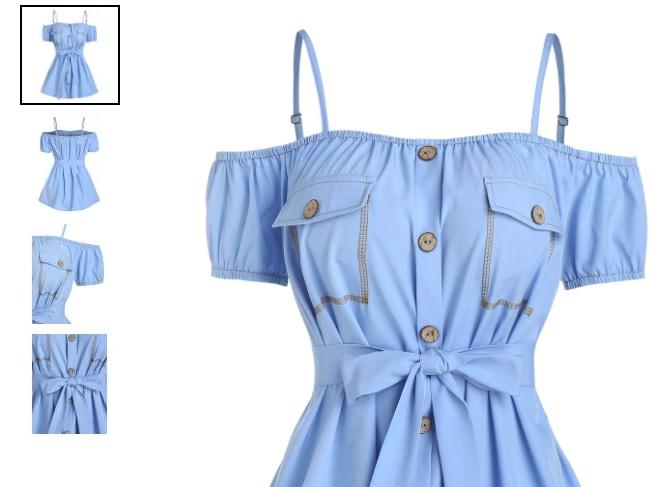 cămașă bleu Dresslily